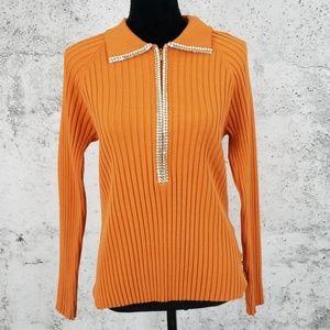 BELLADINI Fitted Rib Sweater Pumpkin XL
